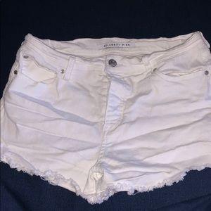 WORN ONCE Celebrity Pink white cutoff shorts DENIM